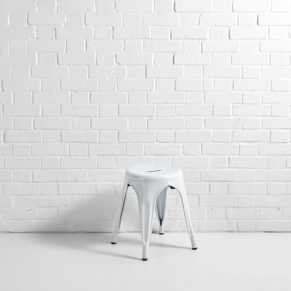 Low Metal Stool Hire