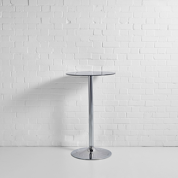 Black Glass Table Hire