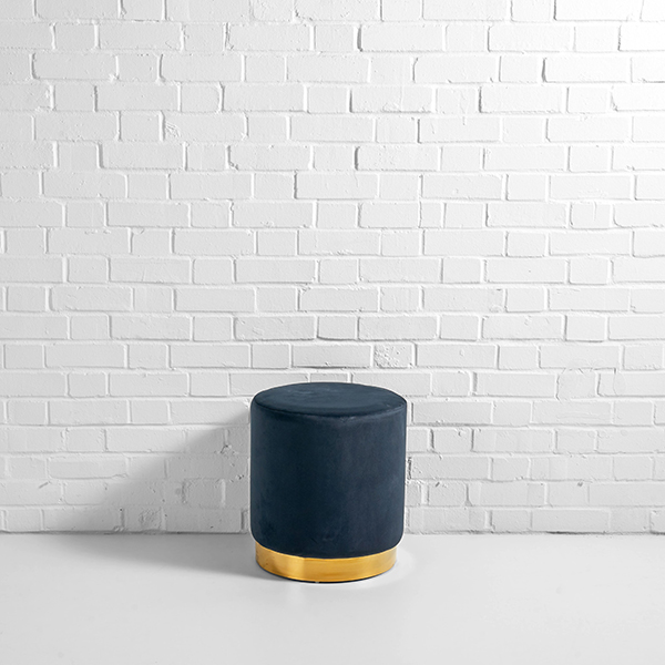 Black Pouffe Hire