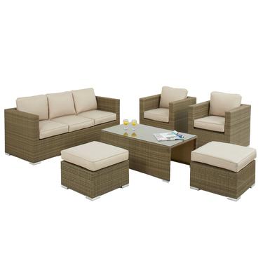 7 Seat Rattan Set