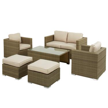 6 Seat Rattan Set