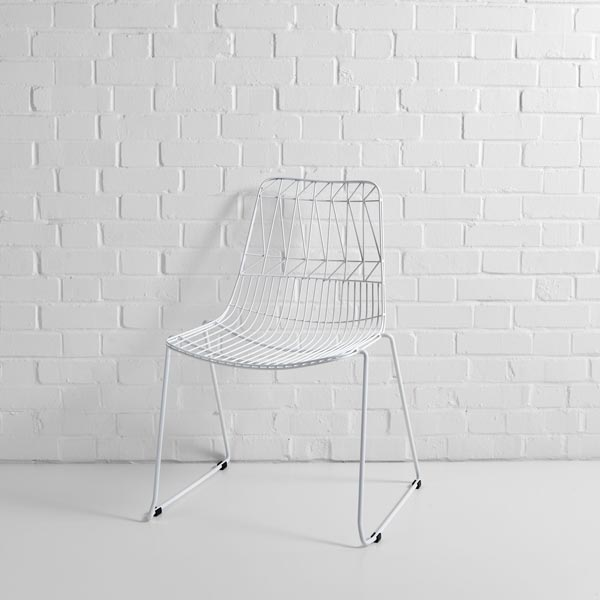 White Simplicity Wire Chair Hire