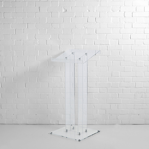 Clear Acrylic Lectern Hire London