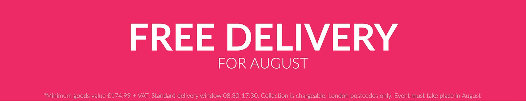 Free Delivery OFfer August