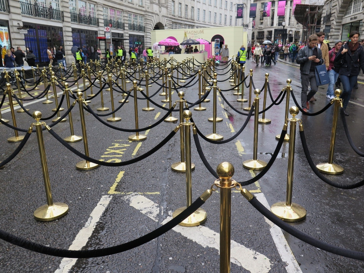 Barrier Hire At Magnum Promotional Event