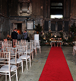 Chiavari Chairs And Red Carpet At Wedding