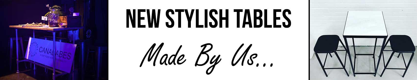 Stylish New Table Hire