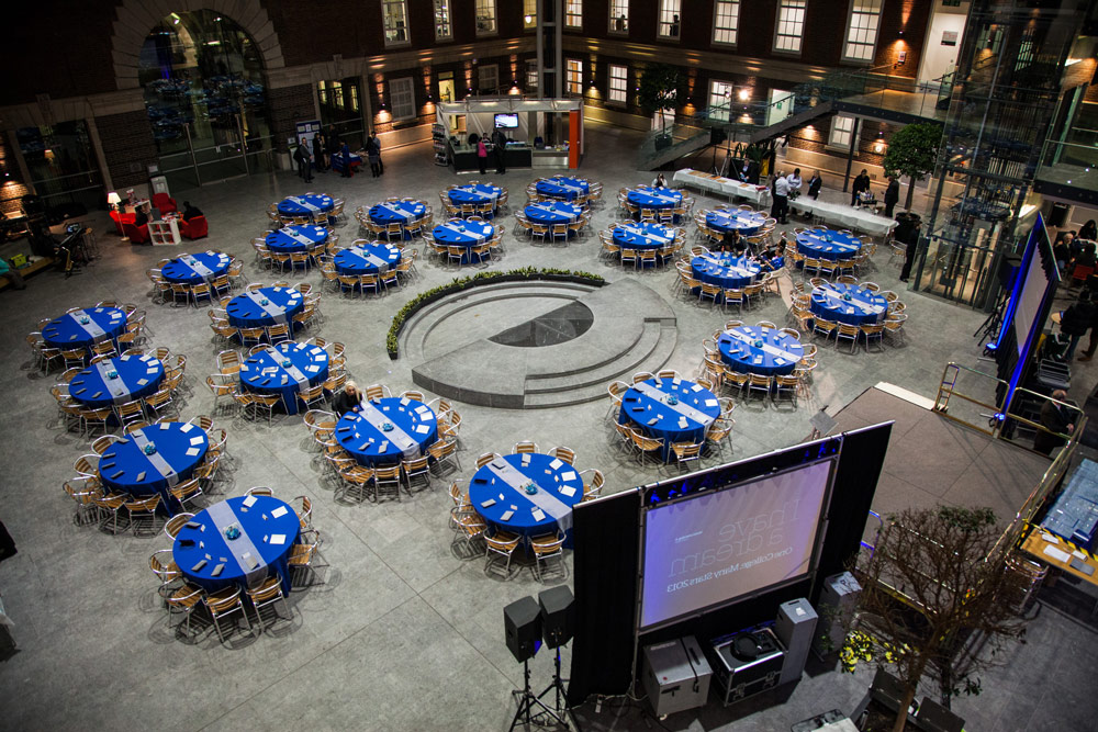 Tables at corporate event