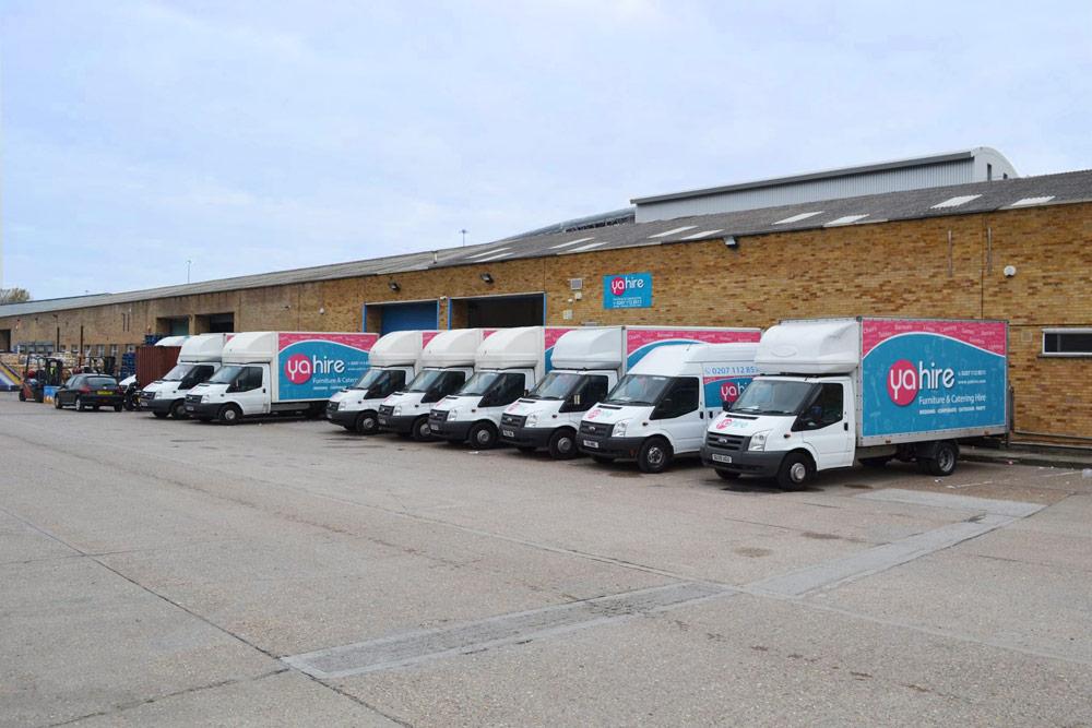 Our fleet of delivery vans
